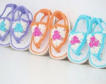 Crochet Booties Pattern, Crochet Sandals Pattern, Crochet Baby Pattern, Happy Feet Sandals