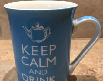 Keep Calm and Drink Tea Kent Pottery Bone China