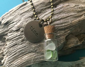 Sea Glass Time Necklace