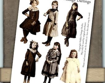 Vintage Darlings Digital Collage Sheet