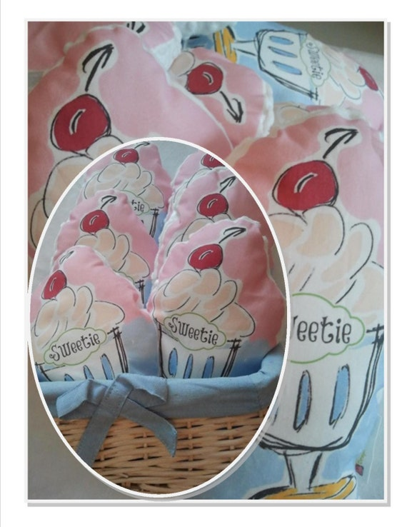 READY to SHIP SWEETIE Pillow - baby pillow, nursery decor, gift baby girl nursery / toddler / nursery / baby pink pillow / ice cream pillow