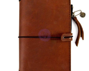 Prima Traveler's PTJ Leather Essential Journal RUST BROWN Personal #630409