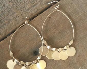 Gold Medallion Earrings