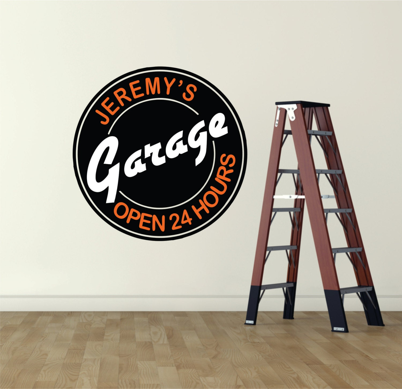 Garage Decor Garage Sign Garage Wall Decal Garage Art Man - Custom vinyl wall decals for garage