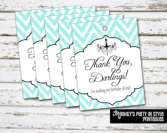 Breakfast at Tiffany's -  Thank you Tags - Instant Download
