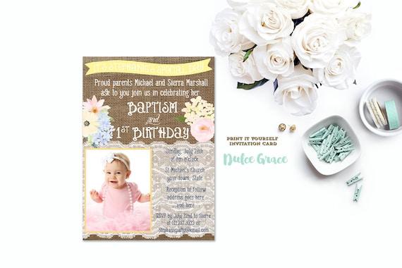 Baptism Birthday Invitations Joint Birthday Baptism Invites