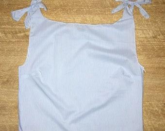 Shoulder Tie Shirt
