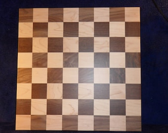 Chess Board, walnut and maple wood