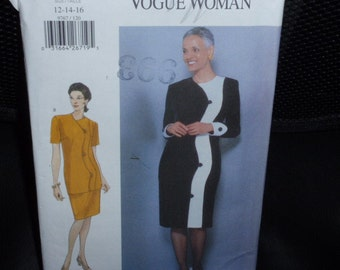 Vogue 9767 Dress, Top and Skirt Pattern  Size 12-14-16  New Uncut
