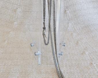 Vintage Nickel Silver Long Handmade Chain, Bolivia