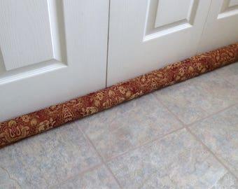 burgundy gold upholstery door draught stopper draft excluders energy saver door draft dodger snake window draft stopper