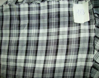 NO. 188-FABRIC POLYESTER CREPE-CHECKERED BLACK AND WHITE