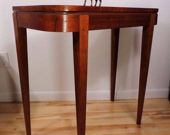 Vintage Mid-Century Modern Walnut Finish Secretary Table