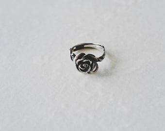 Rose,cirrus , 925 silver,ring