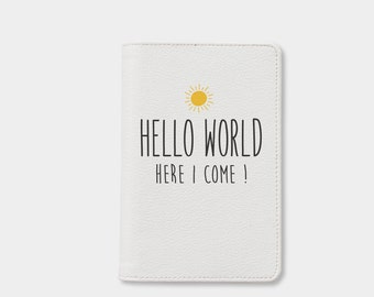 Leather passport holder, personalized passport cover, passport wallet, cute passport cover, personalized gifts, gift for her, travel gifts