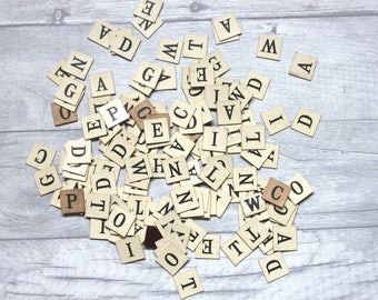 Vintage Square Letters - Add To A Gift - Personalise