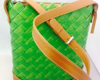 Eco Green Messenger Bag