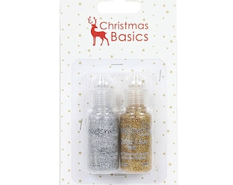 2 tubes of silver and gold glitter glue