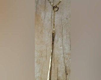 Lariat bar drop necklace