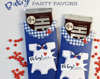 KITS Baby Boy Onesie Party Favor / Candy Bar Wraps / Thanks for coming / It's A Boyl / Hershey / Candy Bar Wrappers / Baby Shower Party