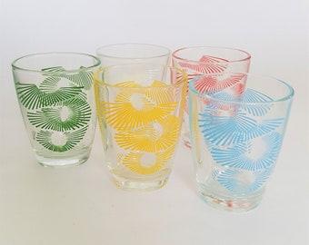 Flex Your Head - Set of 5 Vintage Shot glasses