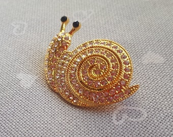 golden snail needle minder for cross stitching/embroidery