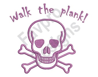 Walk The Plank - Machine Embroidery Design