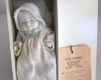 Shackman Bisque Baby Doll 5 Inches Made in Japan Vintage