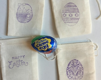 Easter sunday gifts etsy easter gift bags muslin 4 x 3 available in 4 x 6 5 x negle Image collections