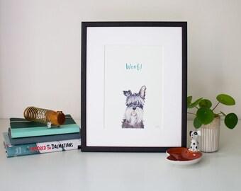 Woof! - unframed print