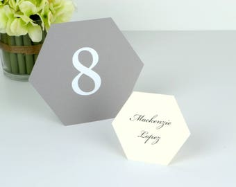 Geometric Hexagon Table numbers 1-10