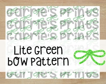 Priontable | Green Thin Bow Pattern |