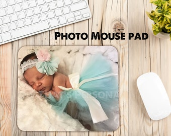 Photo mouse pad, Custom mouse pad, personalized mouse pad, custom photo mouse pad, mouse pad, Computer mouse pad, Office accessories