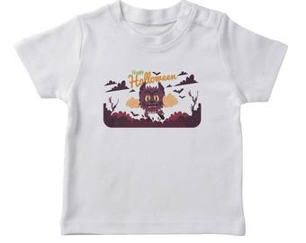 Happy Halloween Cute Scary Wolf Boy's White T-shirt