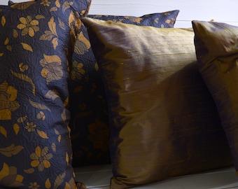 Autumn dream pillows set, decorative pillows in Silk shantung silk and taffeta are pure, throw pillows, pillows,