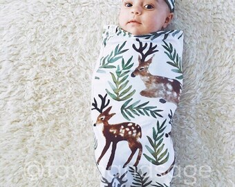 Deer, Elk, Swaddle Sack, Swaddle, Cocoon, Sleep Sack, Swaddle, Newborn, Headband, Top Knot, Cocoon swaddle, Cocoon sack, Newborn Photography