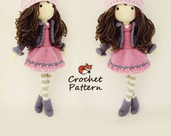 Crochet pattern for doll yuna pdf deutsch english nederlands amigurumi pattern crochet doll pattern photo tutorial instant download dt1010fo