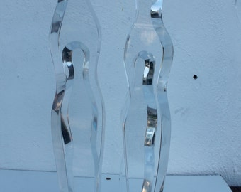 Vintage Figurative  Lucite Table Sculpture .