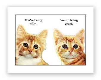 Silly & Cruel Card
