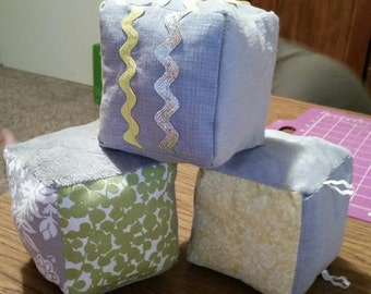 Handmade Soft Filled Baby Blocks