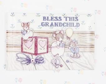 Vintage Grandchild Keepsake Album, Baby Photo Album, Gift for Grandma, Grandma Brag Book, Grandmother Gift, Grandmother To Be, Gift for Nana