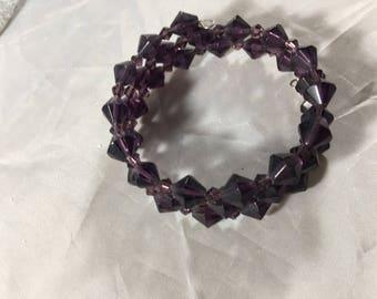 Purple beaded bracelet