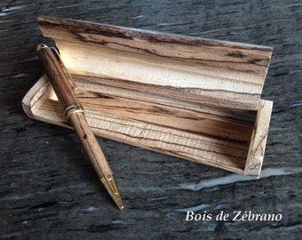 Pen and exotic wood case