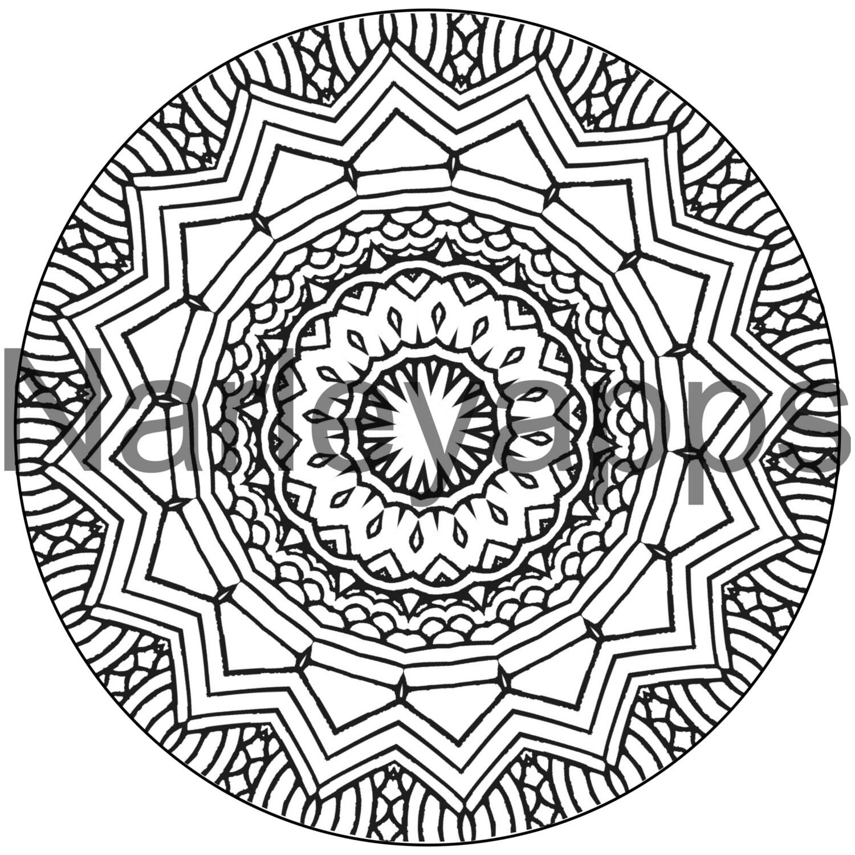 Mandala para colorear adultos página imprimible del libro