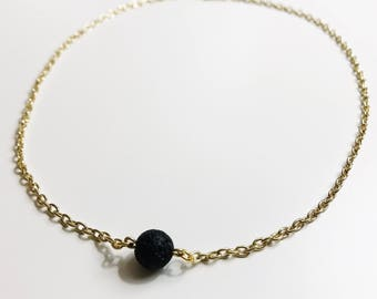 Gold or Silver Aromatherapy Lava Choker
