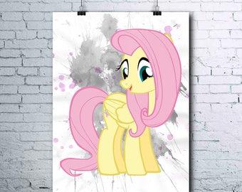 My Little Pony - Fluttershy - Birthday - Little Pony Party - Fluttershy Poster - Fluttershy Printables - Fluttershy Print - Fluttershy Art