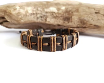 Leather strap and Brown cords