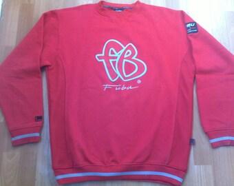 FUBU sweatshirt, vintage longsleeve red shirt 90s hip-hop clothing, 1990s hip hop shirt, OG, gangsta rap, hoodie size L