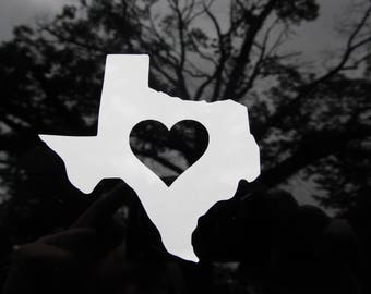 Love Texas Vinyl Decal Free Shipping