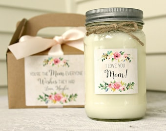 Personalized Gift For Mom / I Love You Mom / Mothers Day Gift Candle / You're the Mom Everyone Wishes They Had / 16 oz Soy Candle with box